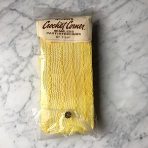 Vintage 60s Yellow Fishnet Stockings
